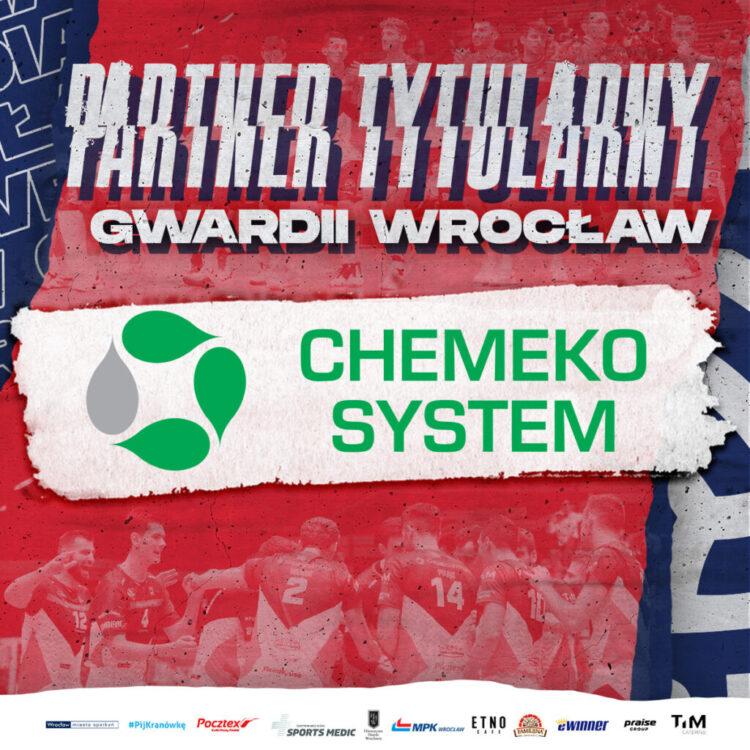 Chemeko-System partnerem tytularnym Gwardii Wrocław!